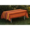 Nappe Rectangle Rayure moderne-Orange