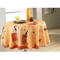 Nappe ronde africaine orange