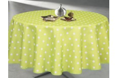 Nappe ronde anis à pois