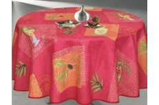 Nappe ronde Nyons corail