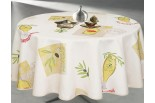 Nappe ronde Nyons ficelle