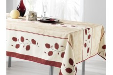 nappe rectangulaire feuille rouge