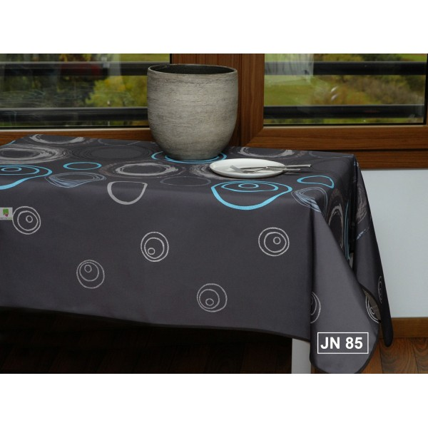 nappe rectangulaire spirale gris turquoise. Black Bedroom Furniture Sets. Home Design Ideas