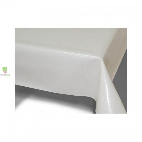Nappe bull gomme paillette blanc - Protege table rectangulaire ...
