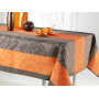 nappe carrè motif fantaisi orange