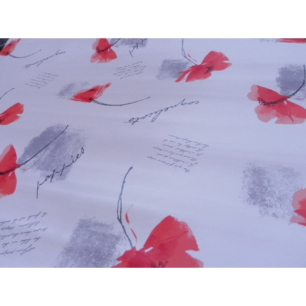 nappe bulgomme imprimer motif poppies nappe bull gomme poppies gris. Black Bedroom Furniture Sets. Home Design Ideas