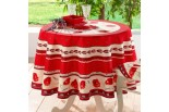 nappe ronde coquelicot rouge