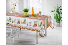 nappe rectangulaire orange catalan
