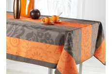 nappe rectangulaire fantaisie orange
