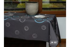 nappe rectangulaire motif spirale gris turquoise